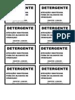 ETIQUETAS DETERGENTE