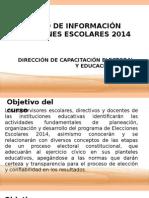 PRESENTACIÓN EN POWER POINT ELECCIONES ESCOLARES 2014..ppt