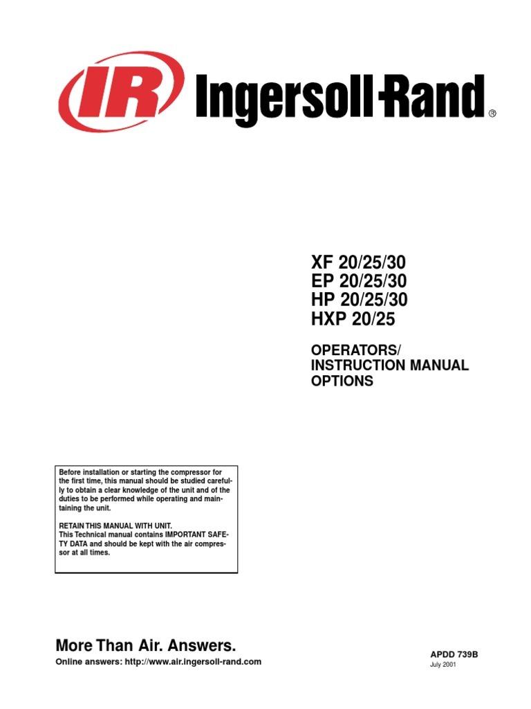 ingersoll rand ssr ep20 air compressor manual indemnity negligence rh es scribd com Ingersoll Rand Towable Air Compressor Ingersoll Rand Towable Air Compressor