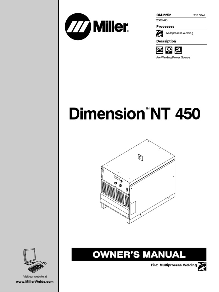 Miller Dimension Nt 450 Service Manual Electricity Energy And Mode Inverter Arc Welder Schematic On Igbt Resource