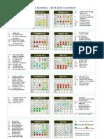 Metro Schools 2014-2015 Calendar