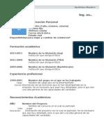 Formato Curriculum Ing.