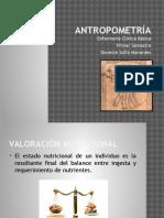 Antropometría (evaluación nutricional)