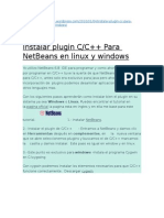 Instalar plugin C  C++ Para NetBeans en linux y windows