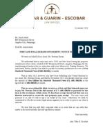 Demand Ejection Letter