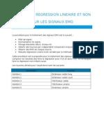Analyse de Regression Lineaire Pour Signaux Emg