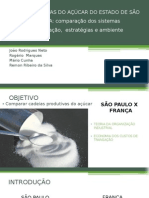 Cadeias Produtivas Do Açúcar Do Estado de São - Mário