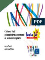 Calitatea Vieţii Persoanelor Cu Autism in Romania Anca David Si Andreea Arhire Fundatia Pentru Voi1