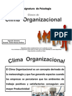 Clases de Clima Organizacional