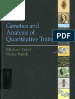 Genetics and Analysis of Quantitative Traits