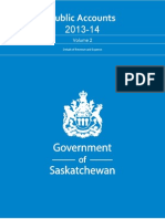 Public Accounts 2013-14 Saskatchewan