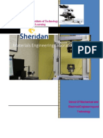 Material Engineering Lab Handbook First 4 Experiments (Spring 2015)
