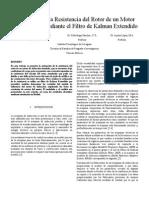 Estimacion de la resistencia de rotor en motor de induccion con FKE