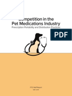 Competition in the Pet Medications Industry - FTC May 2015