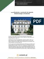 Notatek Pl Sprawozdanie z Wycieczki Do Ogrodu Botanicznego w Krakowie
