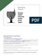 Marketing Pessoal - Valor Pessoal