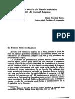 Notas para un estudio del ideario económico y político de Manuel Belgrano