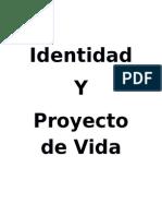 Libro Identidad y Proyecto de Vida