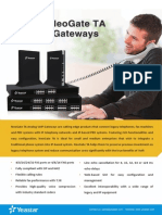 Yeastar TA Series Analog VoIP Gateway Datasheet En