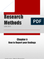 lecture 3b - reporting research findings