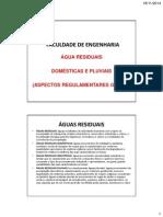 Sistemas de Drenagem Predial de Aguas Residuais - Aspetos Regulamentares