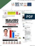 25-05-15 Maloro Aventaja Preferencias en Hermosillo