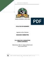 Syllabus QUIMICA ORGANICA