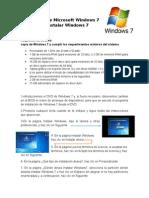 Instalación de Microsoft Windows 7
