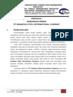 Proposal Kunjungan Pabrik Krakatau Steel