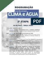 Programação Conferência Do Clima e Da Água 19,20 e 23