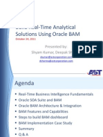 Real-Time BI Using Oracle SOA BAM Implementation