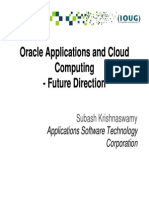 Oracle Apps and Cloud Computing