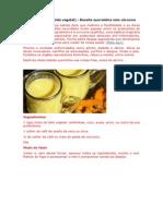 Leite dourado - remédio ayurvédico