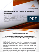 VA Administracao Micro Pequenas Empresas Aula 01 Temas 01 02
