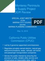 MPWSP DEIR Presentation (Marina) 05-12-15
