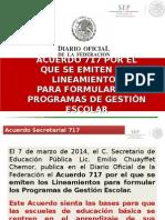 Acuerdo 717 Gestion