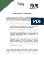 Declaración Publica Consejería