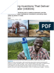 5 Amazing Inventions That Deliver Clean Water