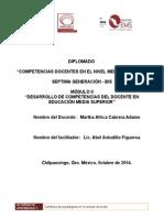 Portafolio de Evidencias Modulo 2 del Profordems 7a generacion bis