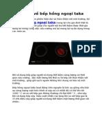 Lợi ích về bếp Hồng Ngoại Taka
