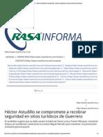 20-05-15 Héctor Astudillo se compromete a recobrar seguridad en sitios turísticos de Guerrero