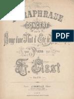 Liszt Paraphrase Songe