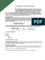 Vitamin a Deficiency Questionnaire