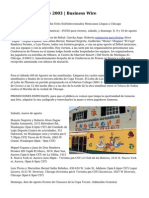 AVISO/Copa Tecate 2003 | Business Wire