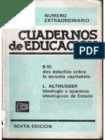 Althusser - Cuadernos de educación