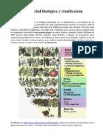 Diversidad Biológica y Clasificación