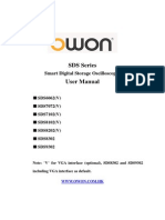 Manual Del Usuario - Osciloscopio Owon Sds Series