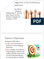 language use in the proficiency-oriented classroom