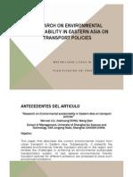Environmet Sustainability Presentacion