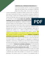 Narracion Documentada de La Propuesta Pedagogica -Modulo II de Alfonzo